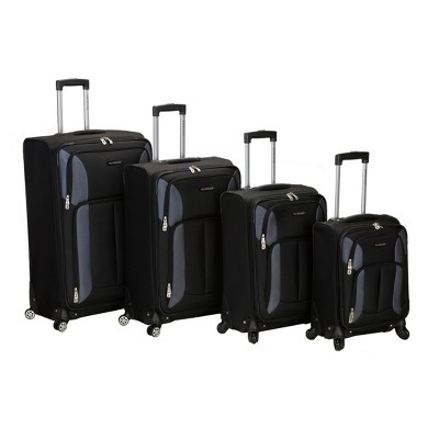 Rockland Impact 4pc Spinner Luggage Set - Black