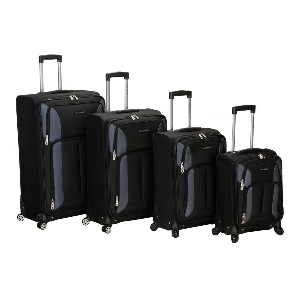 Rockland Impact 4pc Spinner Luggage Set - Black