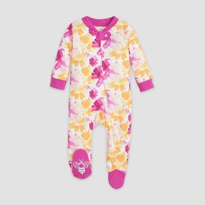 Burt's Bees Baby® Baby Girls' Organic Cotton In Full Bloom Sleep N' Play - Peach Newborn