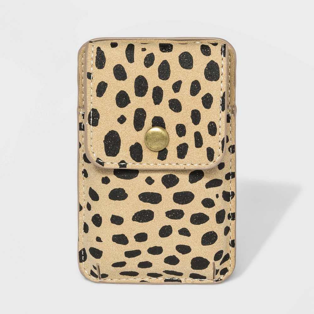 Image of Leopard Print Cell Phone Card Case Holder - Universal Thread , Women's, MultiColored