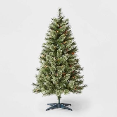4.5ft Pre-lit Virginia Pine Artificial Christmas Tree Multicolored Lights - Wondershop™