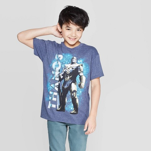 Boys' Thanos Short Sleeve T-Shirt - Blue - image 1 of 3