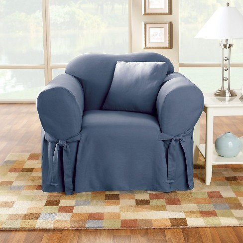 Cotton Duck Chair Slipcover - Sure Fit   Target 5dcaa113e2