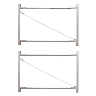 Adjust-A-Gate AG72 Steel Frame Anti Sag Gate Building Kit, 36 to 72 Inches Wide Opening Up To 6 Feet High Fence, 2 Pack