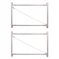 """Adjust-A-Gate Gate Building Kit, 36""""-72"""" Wide Opening Up To 6' High (2 Pack)"""