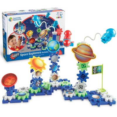 Learning Resources Gears Gears Gears! Spinning Space Gears, 80 Piece Set