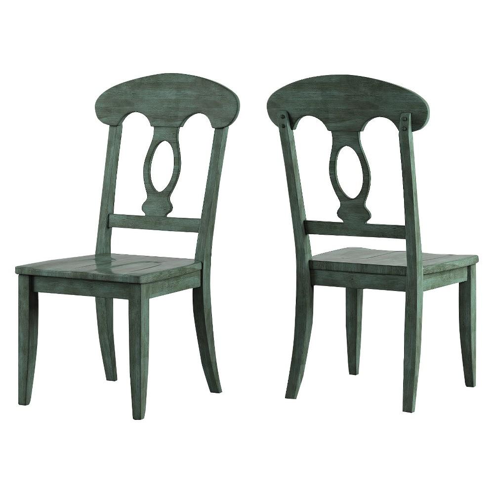 South Hill Napoleon Back Dining Chair (Set Of 2) - Deep Aqua - Inspire Q