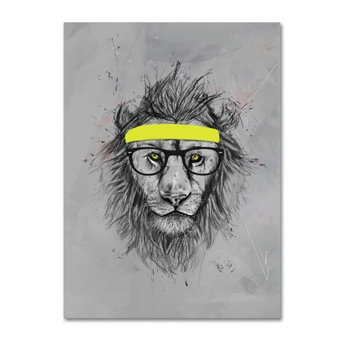 Trademark Global Balazs Solti 'Hipster Lion' Unframed Wall Canvas Art - image 1 of 3