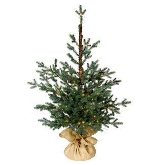 3ft Pre-lit Slim Artificial Christmas Tree Potted Balsam Fir Warm White Dew Drop LED Lights - Wondershop™
