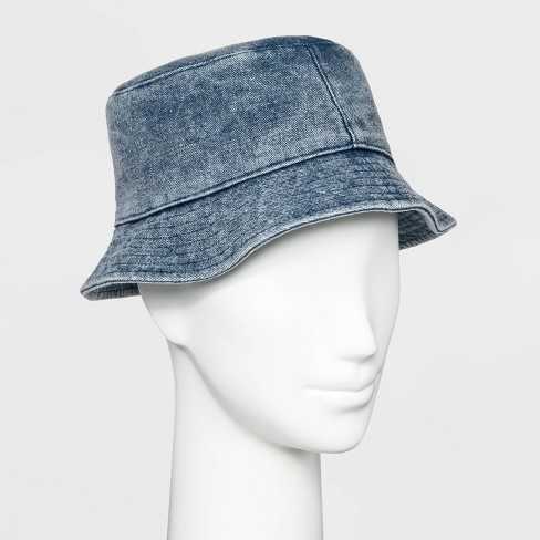 e3dcda58147bb Women's Acid Wash Bucket Hat - Wild Fable™ Denim One Size