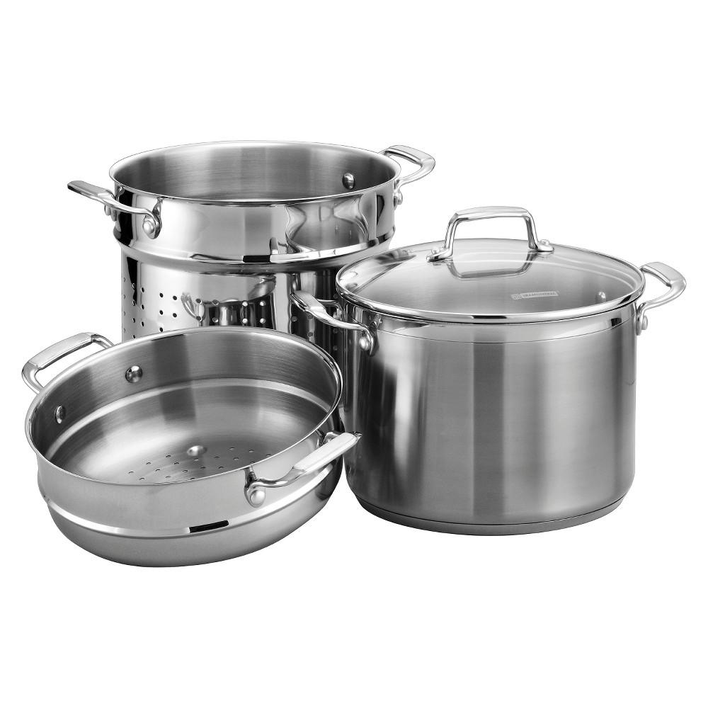 Tramontina Gourmet Induction 8 qt. Pasta Pot - Silver