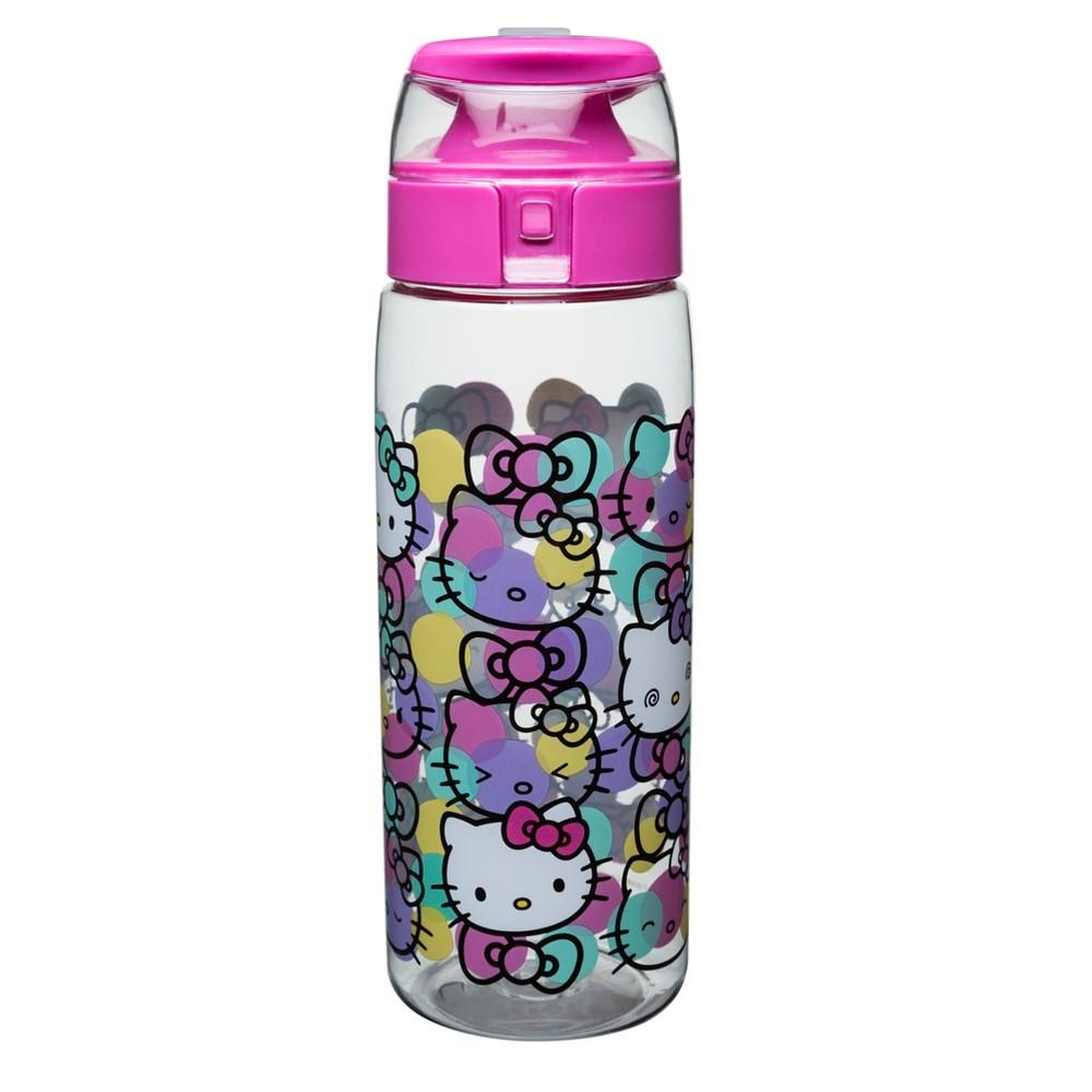 Hello Kitty Sanrio 25oz Plastic Water Bottle Pink/Clear, Lite Blue
