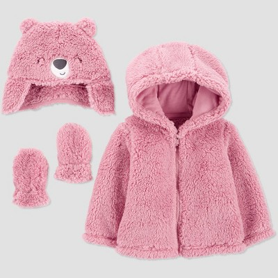 Baby Girls' Bear Jacket - Just One You® made by carter's Pink 6M