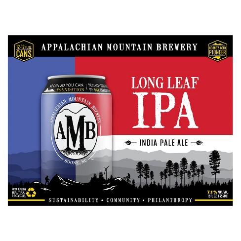 Appalachian Mountain Brewery Long Leaf IPA - 12pk /12 fl oz Cans - image 1 of 2