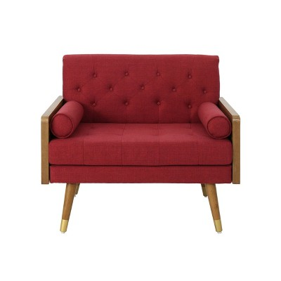 Frankie Mid Century Modern Club Chair Red - Christopher Knight Home