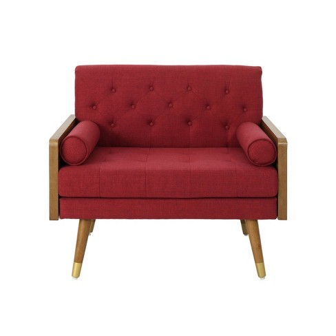 Frankie Mid Century Modern Club Chair Red - Christopher Knight Home - image 1 of 4