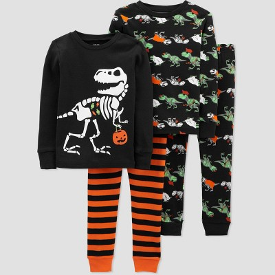 Baby Boys' 4pc Halloween Pajama Set - Just One You® made by carter's Orange/Black 9M