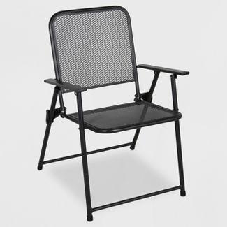 Metal Mesh Folding Patio Chair - Threshold™