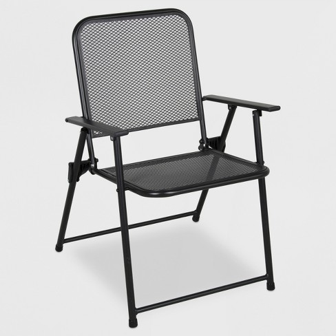 Metal Mesh Folding Patio Chair - Threshold™ - image 1 of 1