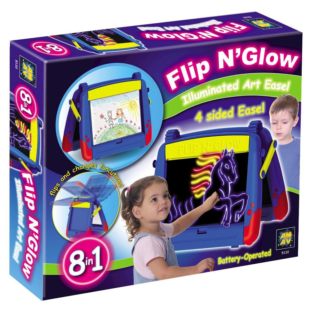 Amav Flip n Glow Table Top Easel, Multi-Colored