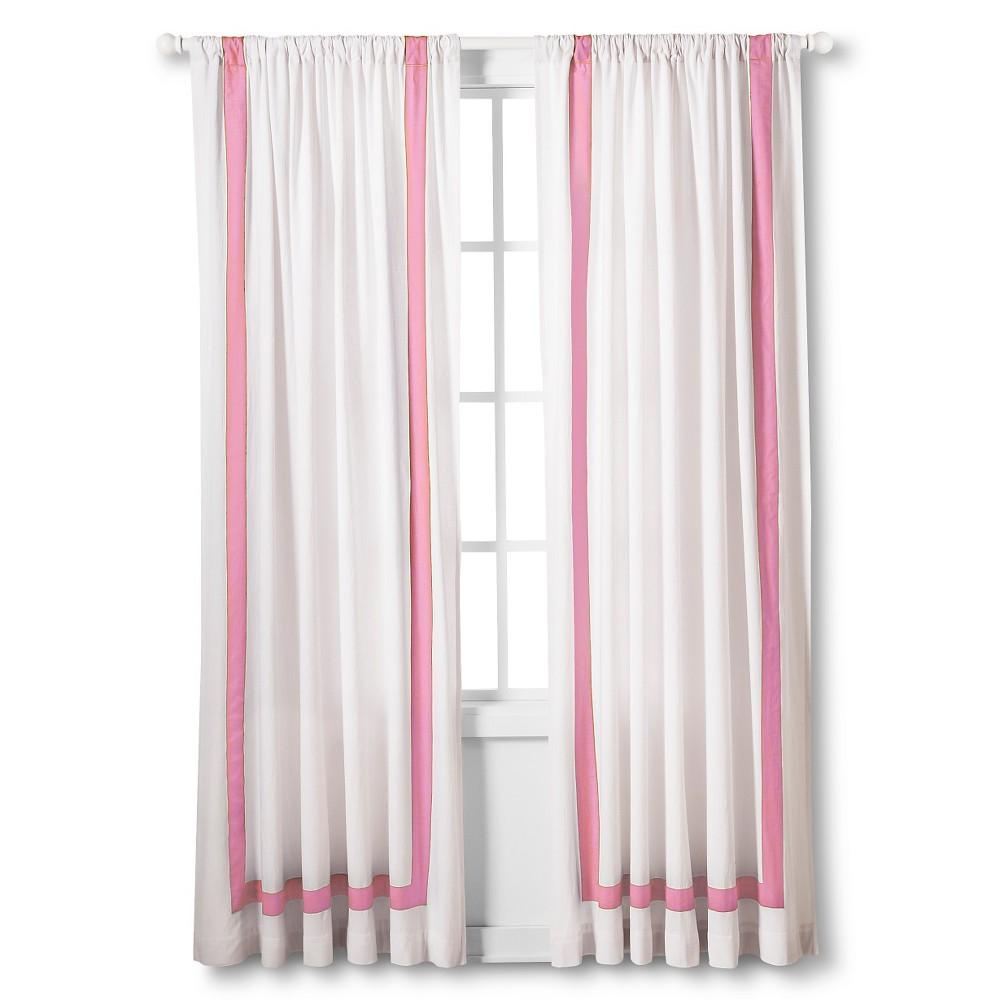 Hotel Stripe Light Blocking Window Panel - Pink (84)