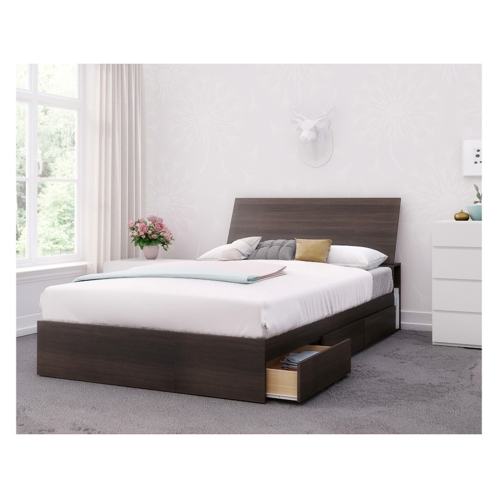Image of 3pc Iris Bedroom Set Full Black/White - Nexera