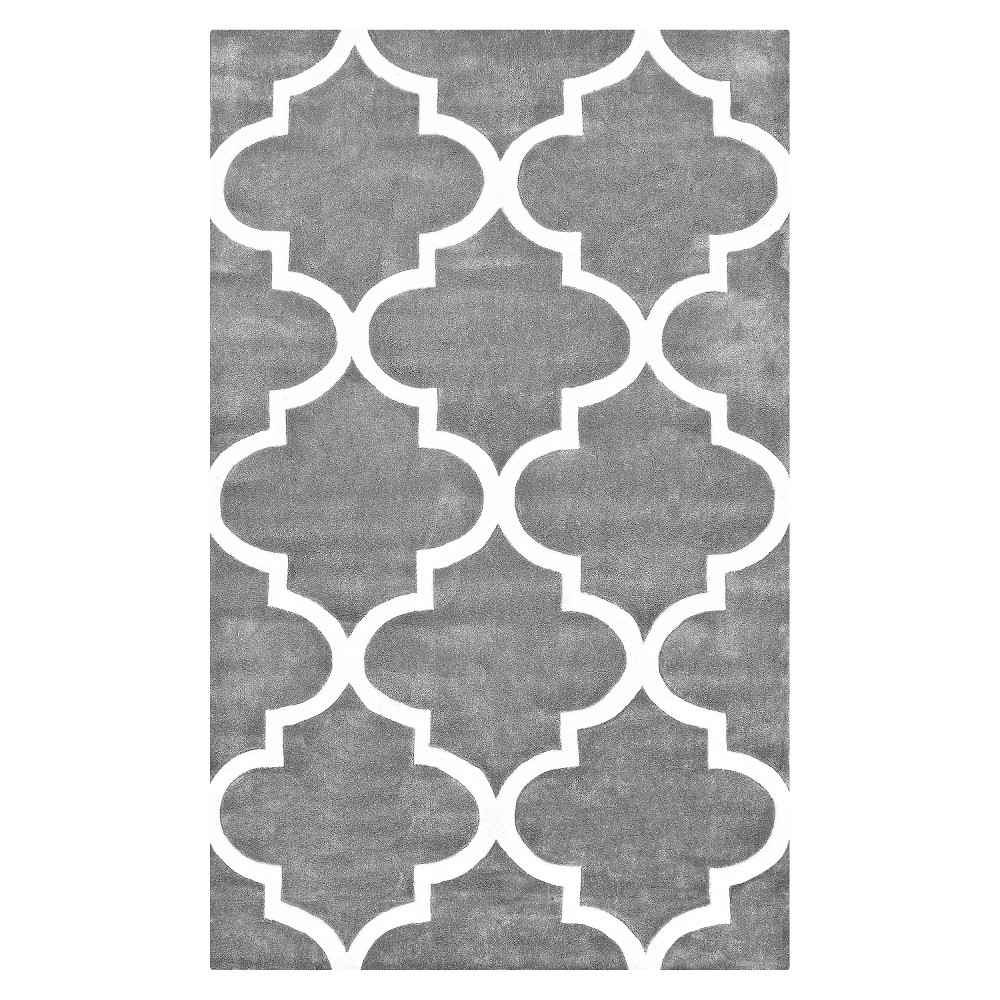 nuLOOM Polyester Hand Tufted Fez Area Rug - Gray (5' x 8'), Grey