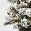 5ft Pre-lit Artificial Christmas Tree Potted Flocked Virginia Pine Clear Lights - Wondershop™ - image 3 of 4