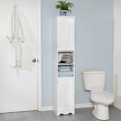 Bathroom High Cabinet White - Honey Can Do