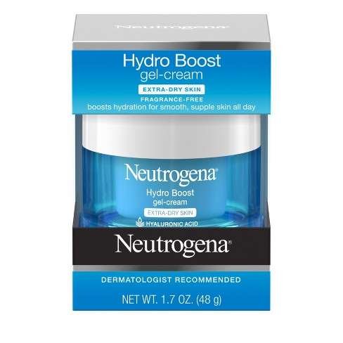 Unscented Neutrogena Hydro Boost Hyaluronic Acid Gel Face Moisturizer to hydrate and smooth extra-dry skin - 1.7oz - image 1 of 10