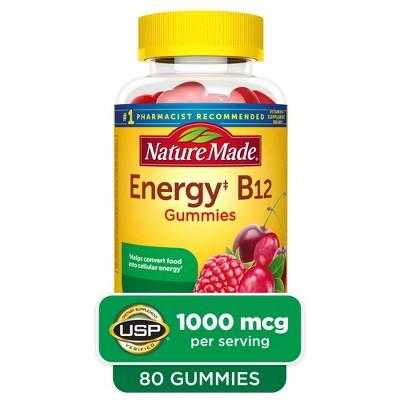 Nature Made Energy‡ B12 1000 mcg Gummies - Cherry & Mixed Berry