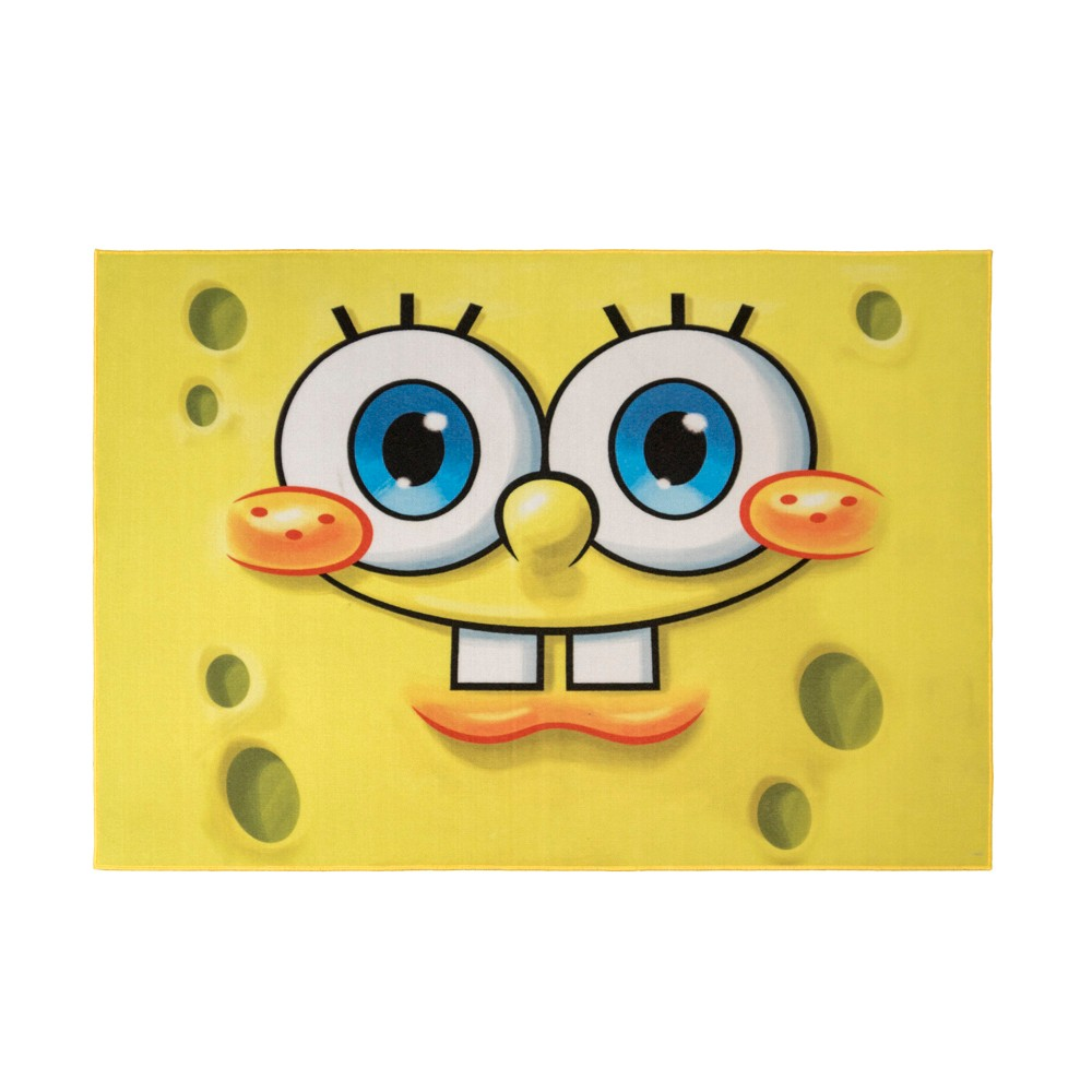 Image of Nickelodeon SpongeBob Square Pants 5'x7' Rug Yellow