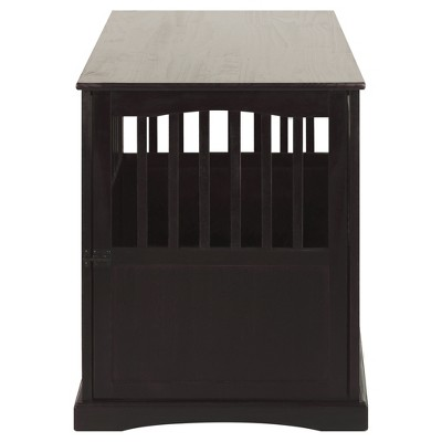 Dogs Pet Crate End Table Large - Espresso - Flora Home