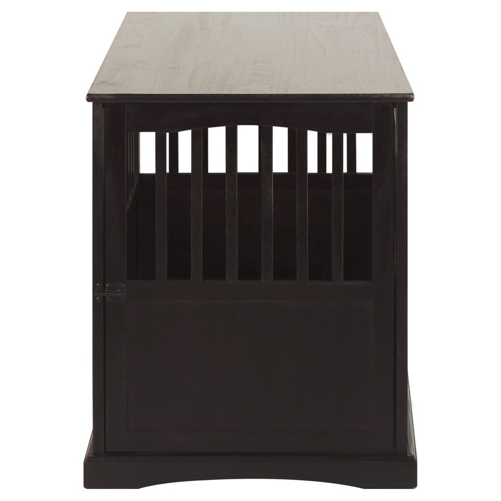 Dogs Pet Crate End Table Large - Espresso (Brown) - Flora Home