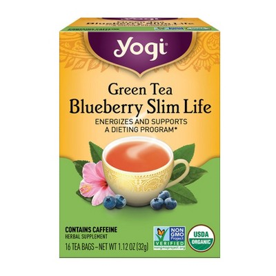 Yogi Tea - Green Tea Blueberry Slim Life Tea - 16ct