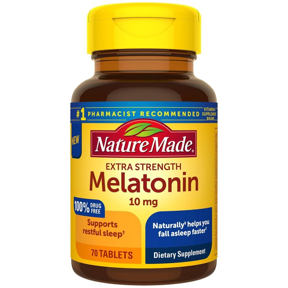Nature Made Melatonin Extra Strength 10mg Tablets 70ct