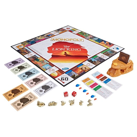 Monopoly Game Disney The Lion King Edition Family Board image number null