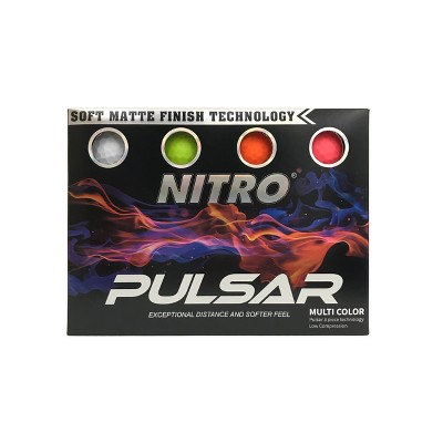 Nitro Golf Pulsar Golf Balls - 12pk