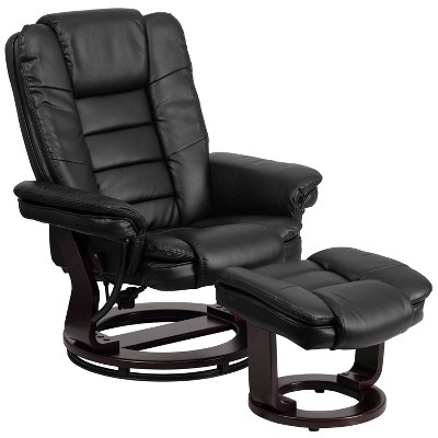 leather recliner and ottoman black belnick target rh target com black leather recliner couch black leather recliner couch