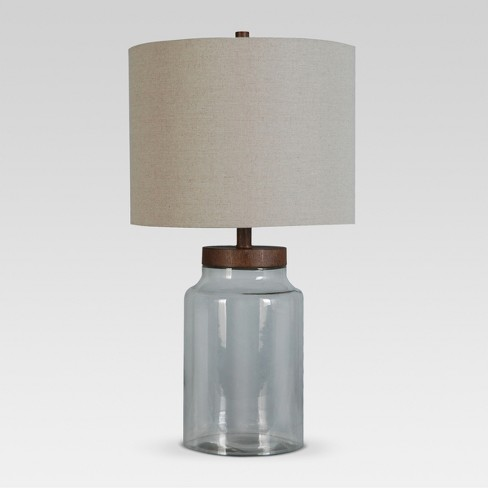 Fillable Glass Assembled Table Lamp Clear Lamp Only Threshold