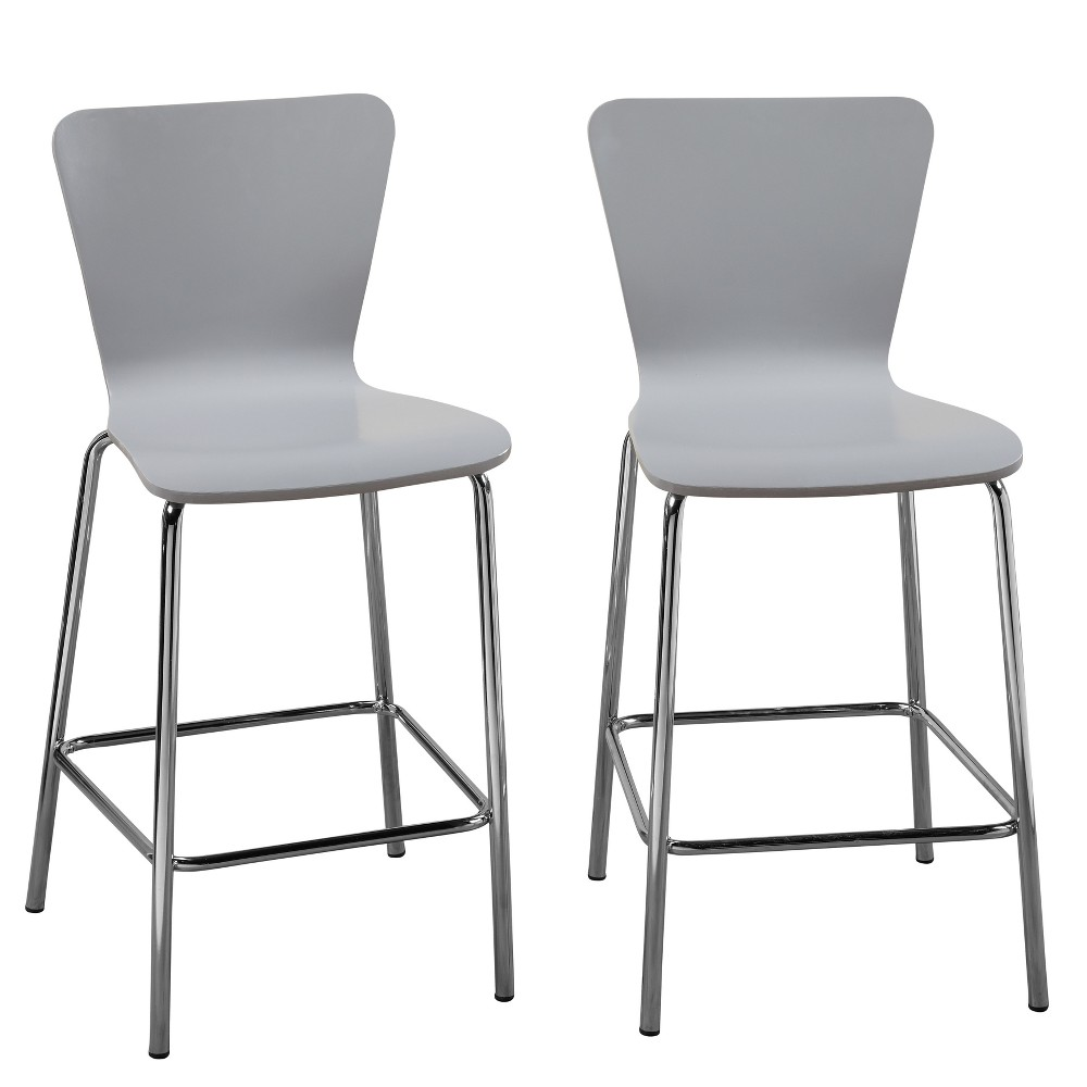 "Image of ""24"""" Hillboro Stool Gray - Buylateral"""