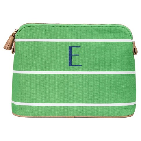 Cathy S Concepts Personalized Green Striped Cosmetic Bag