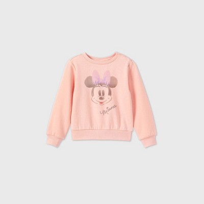Toddler Girls' Minnie Mouse Fleece Pullover - Pink