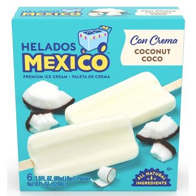 Helados Mexico Coconut Ice Cream Bars - 6ct