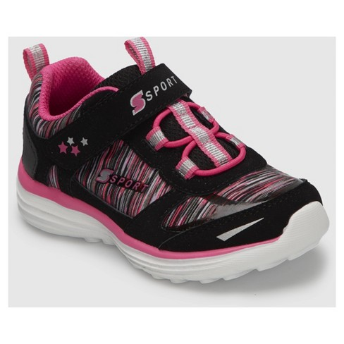 Toddler Girls' S Sport by Skechers Tyro Athletic Shoes - Black/Pink - image 1 of 4