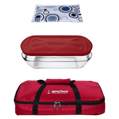 Anchor 3 Qt. Glass Bakeware Set