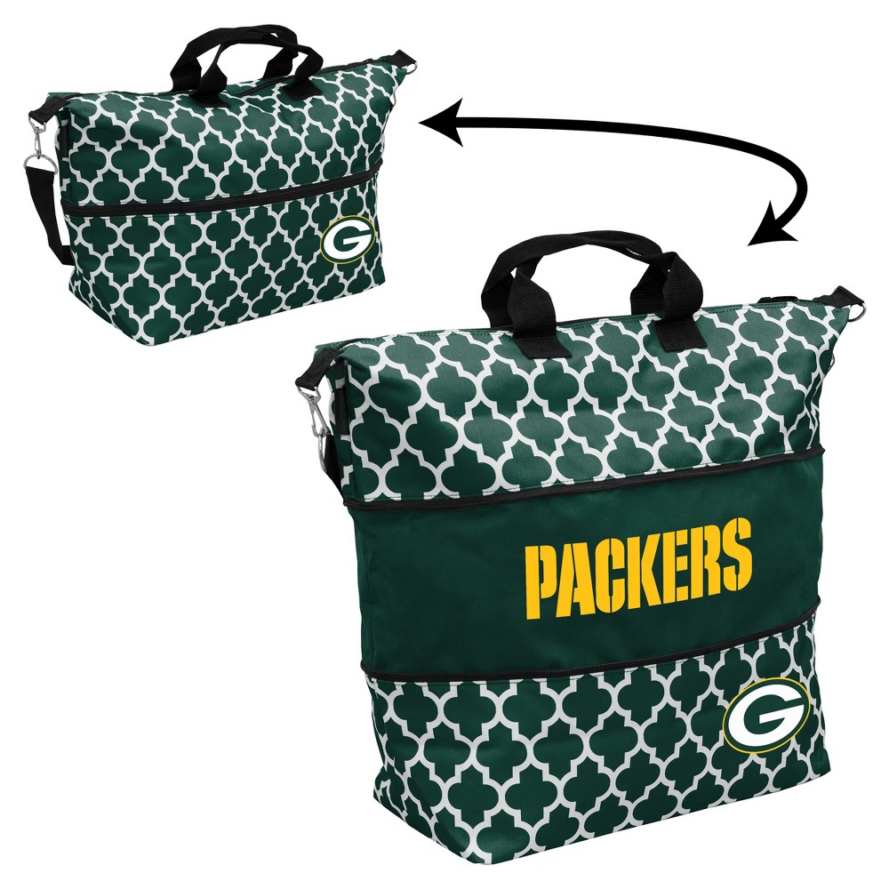NFL Green Bay Packers Quatrefoil Expandable Cooler Tote