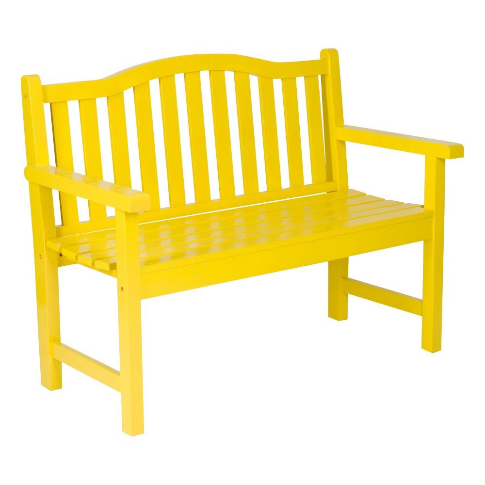 Belfort Garden Bench - Lemon Yellow