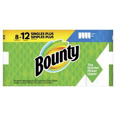 Bounty Select-A-Size Paper Towels - Single Plus Rolls = Regular Rolls - image 1 of 4