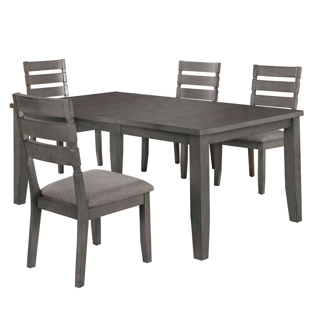 "Discounts 72"" 5pc Ainsworth Dining Set Light Gray - HOMES: Inside + Out"